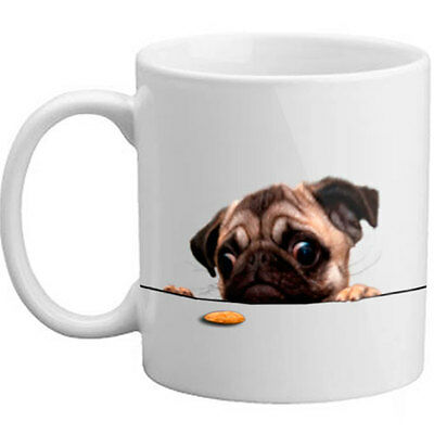 Cute Pug Biscuit Gift Mug Present Dog Lover Gift - 11oz  Mug