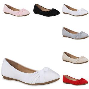 Klassische-Damen-Ballerinas-Basic-Slippers-Flats-Schuhe-822851-Trendy-Neu