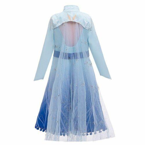 Fantaisie Filles Fête D/'Anniversaire Elsa Costume Princess Dress Kids manteau d/'hiver