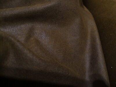 tissu simili cuir marron semi epais vente au demi metre