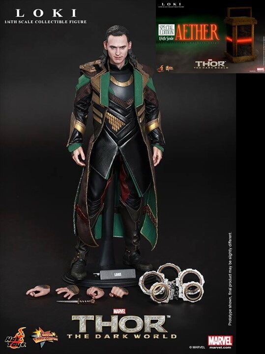 Hot Toys Loki + Aether Thor Dark World Special Edition Exclusive NEW / Sealed