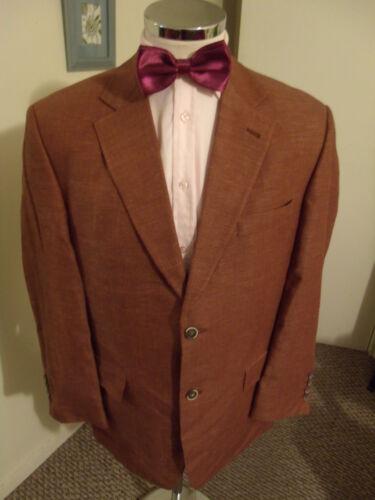"Italian Cloth LANIFICIO GALTES Men's Copper Jacket EUR25 (C40"" Short) Wo/Si/Li get discount"