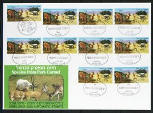 ISRAEL-2011-ENDANGERED-ANIMALS-10-ATM-LABEL-ON-MESSENGER-ETAPPEN-FDC-FAUNA