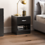 thumbnail 2 - Riano Hulio 1 2 3 Bedside Cabinet Chest Wood High Gloss Bedroom Storage Unit