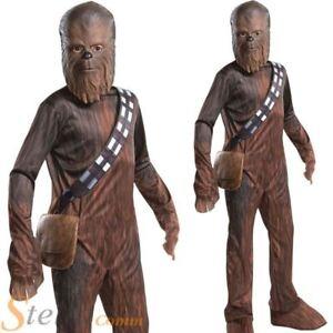 Image is loading Boys-Star-Wars-Force-Awakens-Episode-7-Chewbacca-  sc 1 st  eBay & Boys Star Wars Force Awakens Episode 7 Chewbacca Wookie Fancy Dress ...