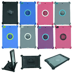 For Apple iPad mini 2/3 Heavy Duty Cover Case with Back Stand & Screen Protector
