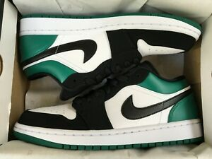 d5b97947a2a5ac NEW AIR JORDAN 1 RETRO LOW MYSTIC GREEN WHITE SHOES 553558-113 MEN ...