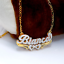 thumbnail 11 - Personalized FINE Sterling Silver 14K Gold ANY Name Plate Necklace + Free Chain