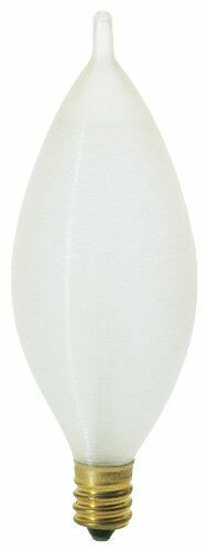 Satco  S3403 25W 160 Lumens Incandescent Soft White Candelabra Base Bulb