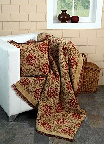 EHC Damask Chenille Jacquard Sofa Armchair Single Bed