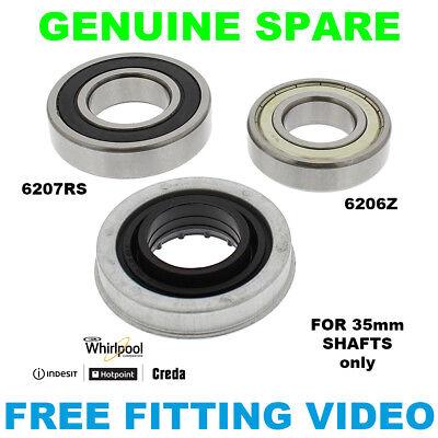 HOTPOINT Washing Machine Drum Bearing Kit 35mm WMF760GUK WMD940PUK FEW12P//SC