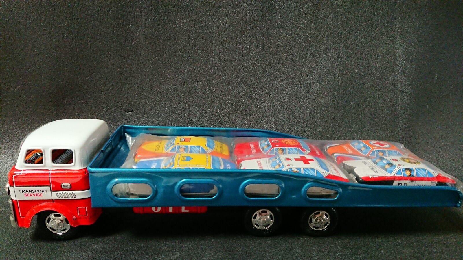 Tin Toy AUTO TRANSPORT FURICTION POWErojo Made in Japan SANYU Vintage