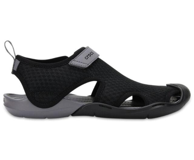 a8afbee972 NEW Genuine Crocs Women Swiftwater Mesh Sandal Black - Australia Store