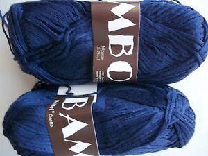 Medium blue 181 yds each lot of 2 MeiMei Bamboo 100/% bamboo yarn