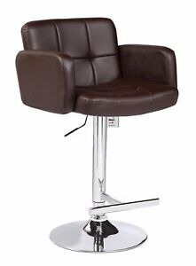 Amazing Details About Brown Studio Jupiter Kitchen Bar Stool Faux Leather Breakfast High Chair Seat Cjindustries Chair Design For Home Cjindustriesco