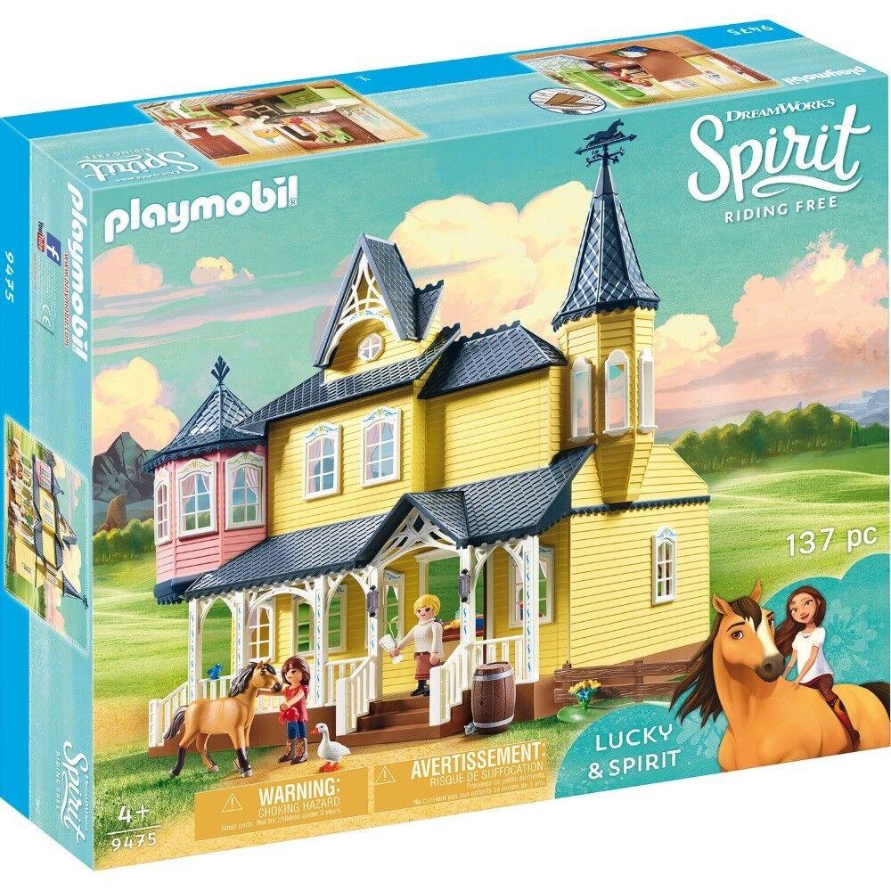 PLAYMOBIL spirito Bottiglia Felici a Casa 9475 Cavalli Giocattoli da 4 anni