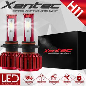 Cree H11 2PCS LED Total 60W Combo Headlight 6000K White Kit Bulbs