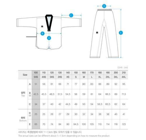 MOOTO BS4.5 Black Color V Neck Uniform WT Taekwondo Demonstration Team Dobok