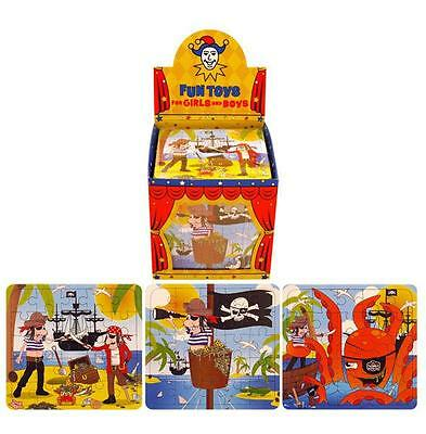 6 x Mini Boys Kids Pirate Puzzles Party Loot Bag Fillers Toy Gift Birthday
