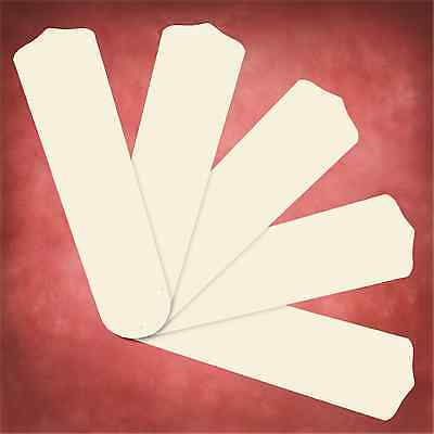 """Replacement Blades for 50""""-52"""" Ceiling Fan 5-pack Antique White 20"""" L _236-B90"""