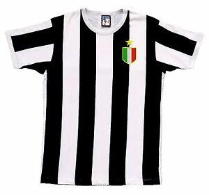 Juventus-Football-1972-76-a-Rayures-T-Shirt-Logo-Brode-Tailles-S-XXL