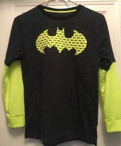 Yellow and Grey Licensed Batman DC Comics Long Sleeves T-shirt for Boys