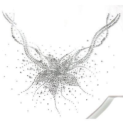 Rhinestone Iron on Transfer Hot fix Motif crystal Fashion Design Wind Flower 1