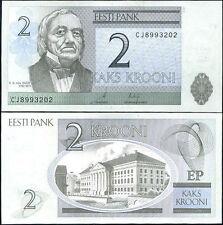 ESTONIA - 2 krooni 2007 FDS UNC