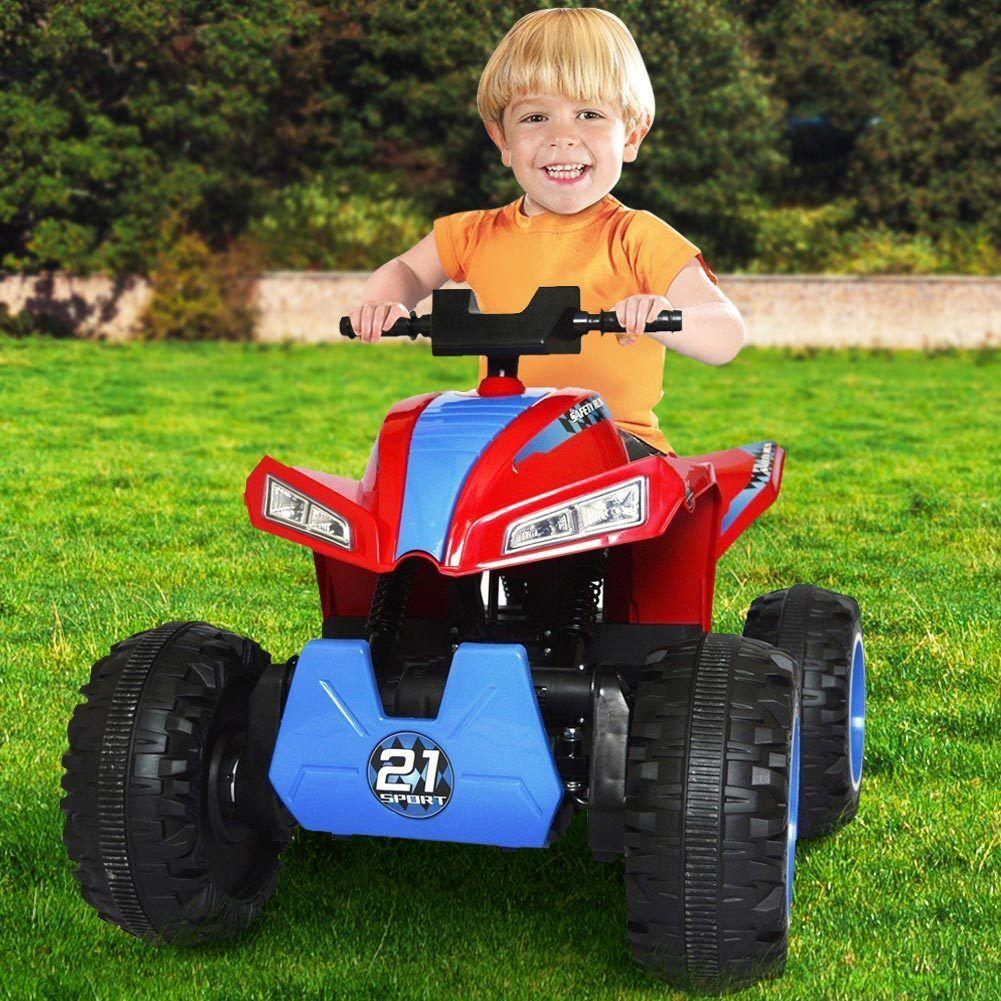 apresurado a ver Quad Elettrico Elettrico Elettrico 4x4 per Bambini Cavalcabile 12V Luci Radio MP3 rojo 100×70×51cm  alta calidad