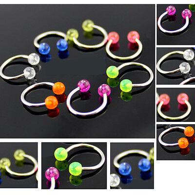 Clip On Fake Septum Clicker Popular Non Piercing Nose Ring Hoop Ball Fashion