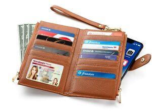 Women-s-Luxury-RFID-Blocking-Bifold-Wallet-Multi-Card-Case-Purse-With-Zipper-Po