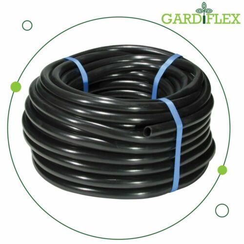 Black LDPE Water Pipe Hose Garden drip Irrigation 13mm ID Gardiflex 16mm