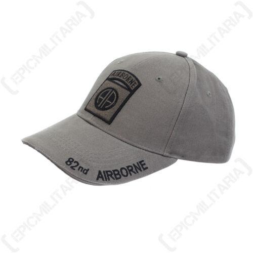 Grey US 82nd Airborne Baseball Cap One Size Paratroop Sun Peak Hat NEW