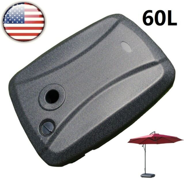 Patio Umbrella Base Stand Plastic Outdoor Weights Grey 40 Pound Durable Pool For Sale Online Ebay