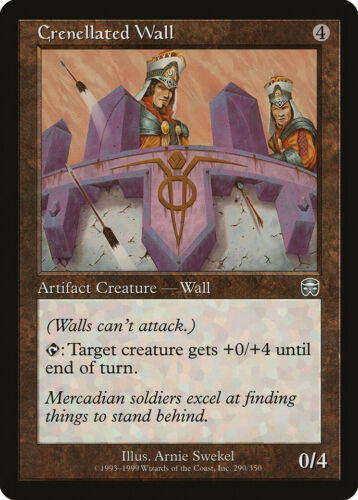 Crenellated Wall Mercadian Masques HEAVILY PLD Artifact Uncommon CARD ABUGames