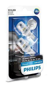 Details about 2pcs Philips 921 LED 6000k Super Bright White T16 Back up  Reverse Light bulb