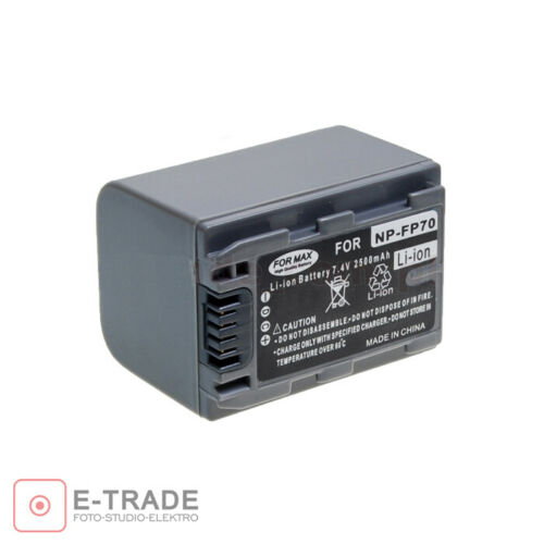 New Battery for Sony NP-FP70 Compatible With NP-FP50 NP-FP90 NP-FP30 Camcorder