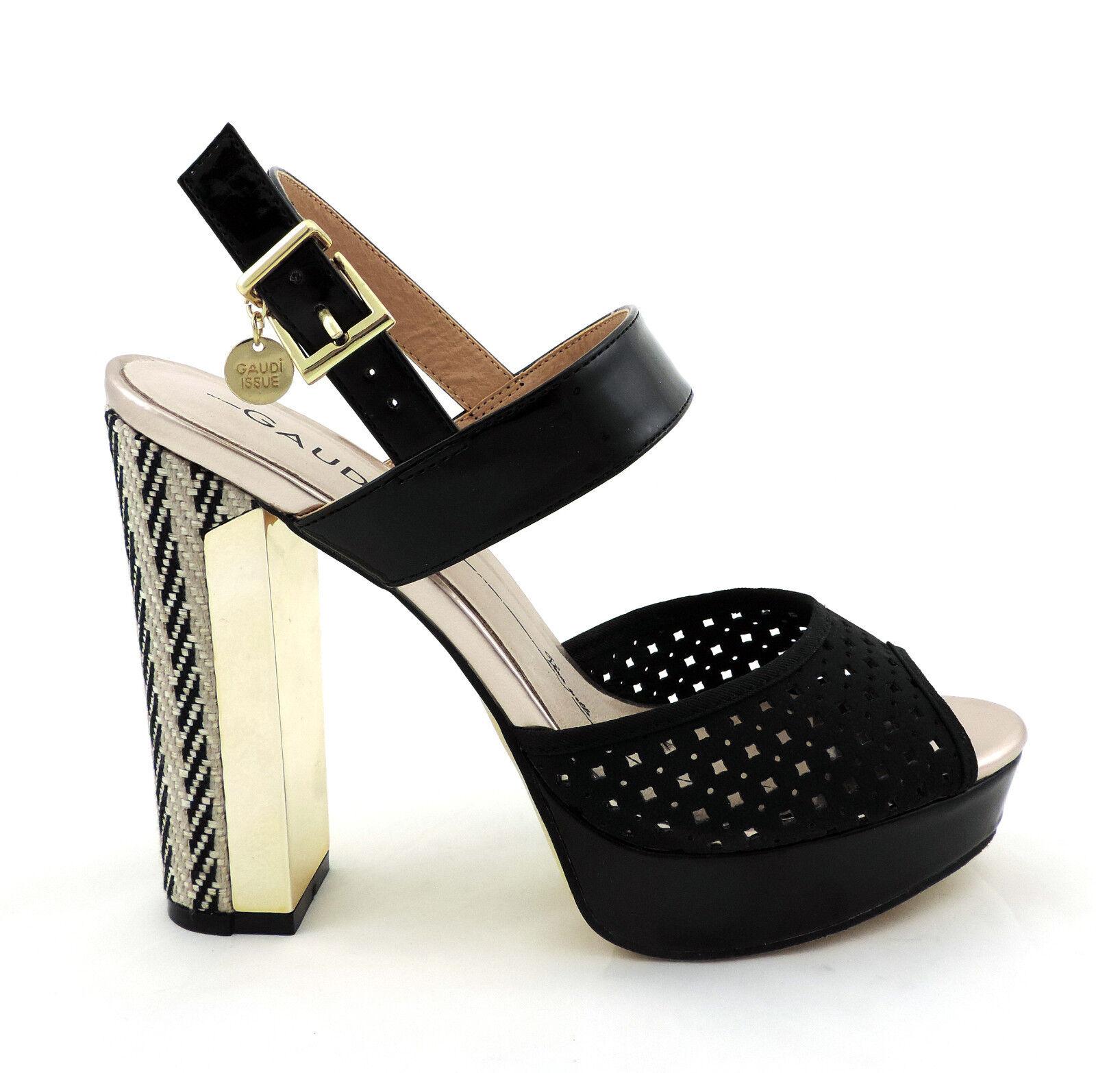 GAUDI shoes sandalo tacco alto nero scarpe décolleté NUOVO