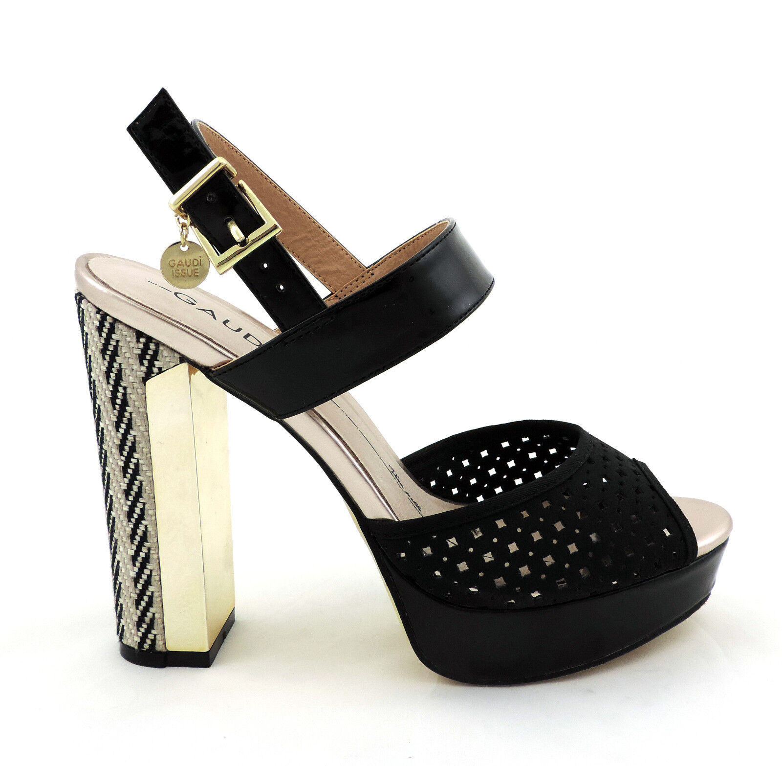 Gaudi shoes Sandale high heel schwarz Schuhe pumps neu