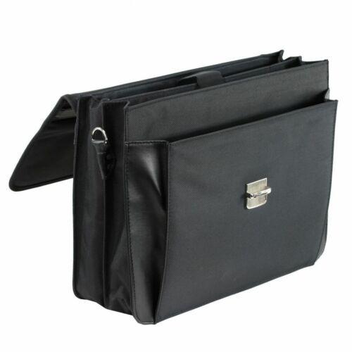 Aktentasche-Arbeitstasche-Umhängetasche-Tasche Schwarz 41 x34x13cm–Bowatex