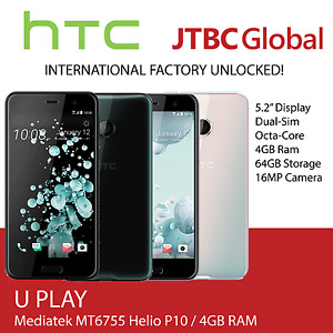 New HTC U Play 5.2 Inch Dual Sim 64GB 4G LTE FACTORY UNLOCKED Android Smartphone