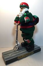 Trim A Home Animated GOGO SCOOTER SANTA Santa Claus Riding Scooter Music Gift