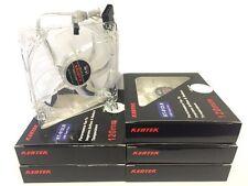 LOT of 5 PC Kentek 120mm 12cm White 4x LED LEDs Case Power Supply Fan 3 /4 Pin