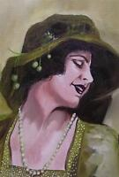 Original Painting Oil on Canvas Portrait  by GREGORY TILLETT : Emerald Lady
