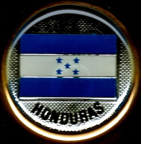 Republica de Honduras Flag Solid Brass Key Chain NEW