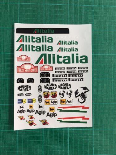 Decal Sheet 1//12 Sticker on clear vinyl fit all 1//12 body/'s Italian gt12