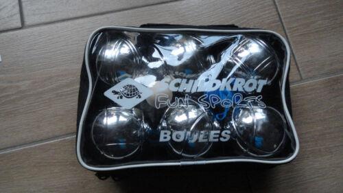 6 Metallkugeln,1 Holzkugel Maßband  mit Tasche Weitere Sportarten Bouleset,Boccia