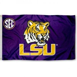 LSU TIGERS FLAG Louisiana state banner 3X5FT