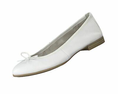 Tamaris Damen Ballerina 1 22116 24 Weiss 925 Freizeitschuhe Leder Schuhe Neu   eBay