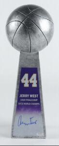 Jerry West Signed Basketball Trophy Replica Lakers HOF SCHWARTZ COA GOAT Auto